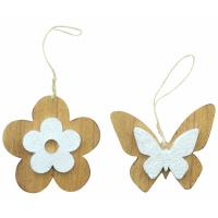 Hänger Blume & Schmetterling 2er Set