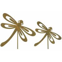 Gartenstecker Libelle 2er Set