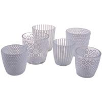 Teelichthalter Glas 6er Set