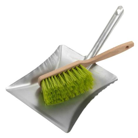 Schaufel und Besen grün