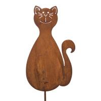 Gartenstecker Katze
