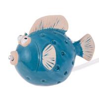 Wasserspeier Fisch blau