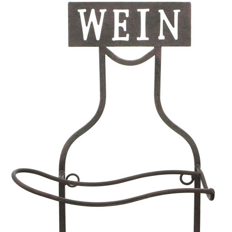 Wandregal Wein