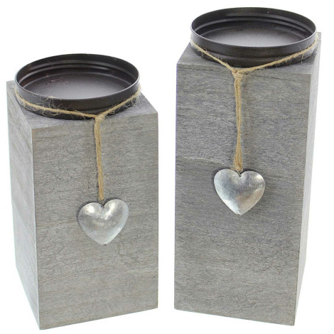 Kerzenhalter Little Heart 2er Set