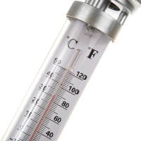 LED Solar Thermometer