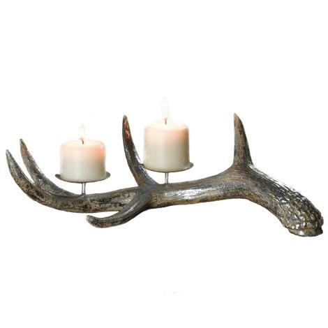 Kerzenhalter Geweih silber