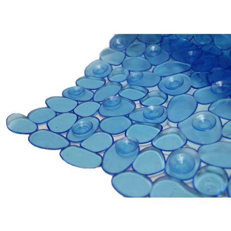 Duscheinlage Kiesel blau
