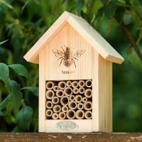 Bienenhaus mit Silhouette