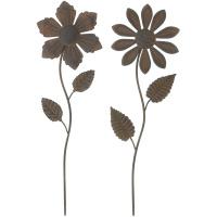 2 Dekostecker Rostblume