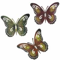 3 Wandhänger Schmetterling