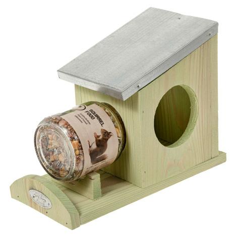 Eichhörnchen Erdnussbutterhaus + Futter
