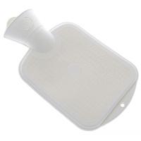 Wärmflasche 0,8 l weiß