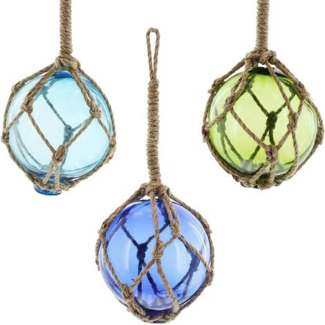 Glaskugel Netz 3er Set