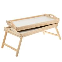 2 Bett-Tablett Holz