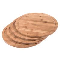 Schneidebrett Bambus Ø 25 cm 4er Set