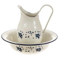 Waschschüssel mit Kanne Blume
