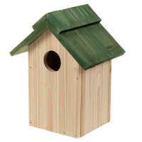 Vogelhaus Holz 24x18x14 cm