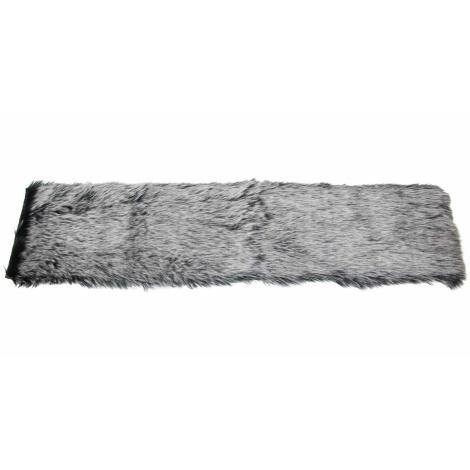 Tischläufer Kunstfell grau