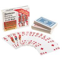 Rommékarten für Senioren 1 Set mit 2 x55 Blatt