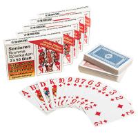 Rommékarten für Senioren 5 Sets mit 2 x55 Blatt