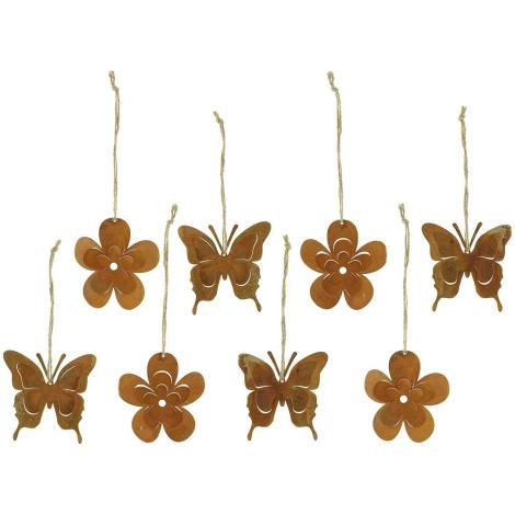 Schmetterling Rostoptik 8er