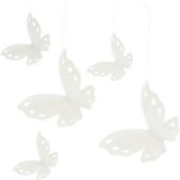 Porzellan Hänger Schmetterling 5er Set