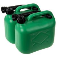 2 Benzinkanister 5 l grün