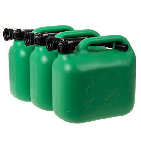 3 Benzinkanister 5 l grün