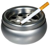 Aschenbecher rund Metall