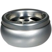 1 Aschenbecher rund Metall