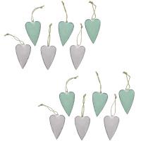 12 Dekohänger Pastell-Herzen