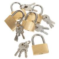 5 Mini-Schlösser mit je 3 Schlüssel