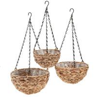 3 Blumenampeln Wassserhyazinthe