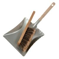 Handbesen Rosshaar gespalten und Schaufel