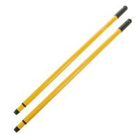 2 Teleskopstiele 75/130 cm gelb