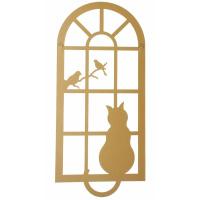 Katze am Fenster Wanddeko