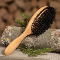 Haarbürste Wildschwein Buche 10 Reihen