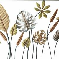 Metallbild Blätter